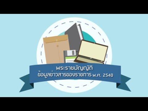 รูปภาพตัวอย่าง จาก VDO วิดีโอ : พระราชบัญญัติข้อมูลข่าวสารของราชการ พ.ศ.2540