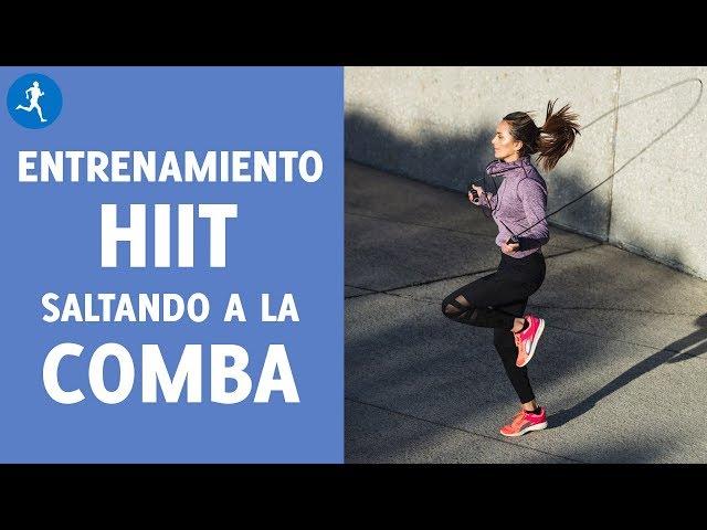 Entrenamiento HIIT en 2 MINUTOS Y MEDIO SALTANDO A LA CUERDA | Vitónica