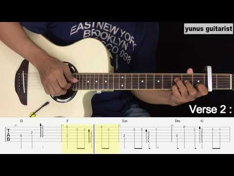 Bidadari Tak Bersayap - Anji - Fingerstyle Guitar Tutorial.