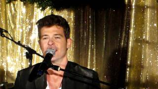 I Need Love - Robin Thicke live @ Qream Launch