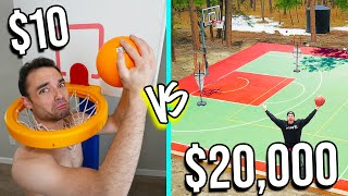 $10 VS $20,000 BASKETBALL COURTS! *Budget Challenge*