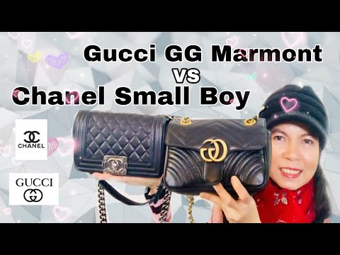 ca91365650af85 gratis download video - รีวิวกระเป๋า Gucci GG Marmont Mini Bag VS Chanel  Small Boy 8 ...