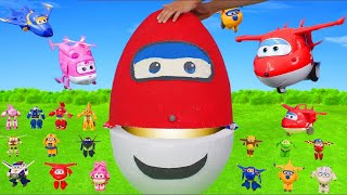 Gambar cover Super Wings Surprise Egg Unboxing: Toy Vehicles from Jet, Donnie, Jerome & Dizzy for Kids