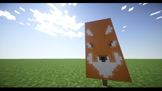 How To make a Fox Banner in Minecraft!