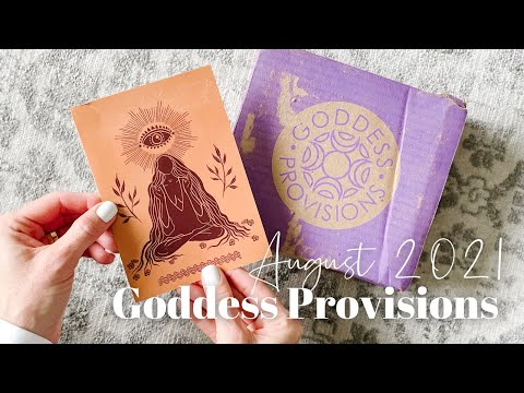 Goddess Provisions Unboxing August 2021