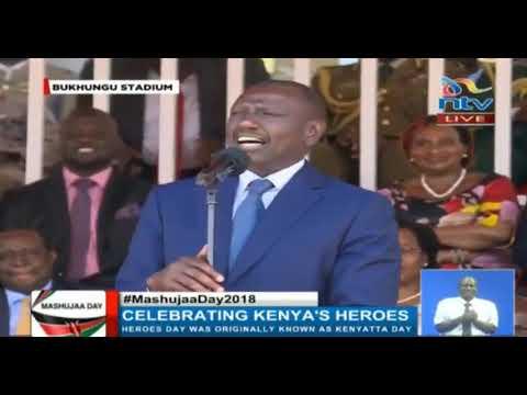 Raila and Ruto leave everyone laughing during Mashujaa Day celebrations (видео)