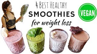 4 Healthy Vegan Smoothies PERFECT FOR DETOX, WEIGHT LOSSS, & VEGAN PROTEIN SOURCE