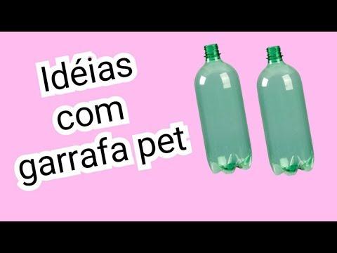 Idéias com garrafa pet