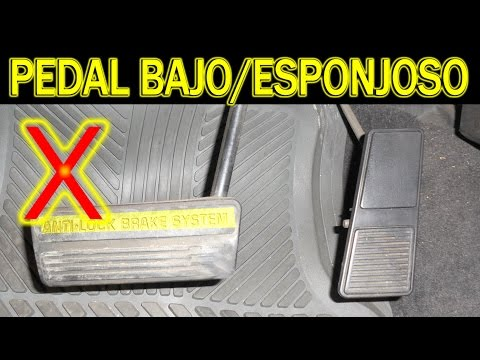 Causas de pedal de freno bajo o esponjoso (cambio de cilindro maestro, diagnostico)