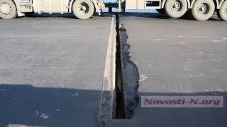 Мост на объездной дороге под Николаевом в аварийном состоянии: «ремонт» «отвалился» через неделю