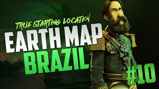 Civilization 6 Brazil Earth Map True Start Location Let's Play [Pt. 10]