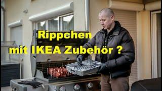 Rippchen mit IKEA Zubehör? /Rippchen vom Gasgrill / Weber Genesis 2 / Folge 25