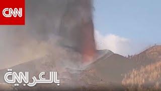 انفجارات وأصوات مرعبة.. شاهد لحظة خروج الحمم من فوهة بركان جزر الكناري عن قرب