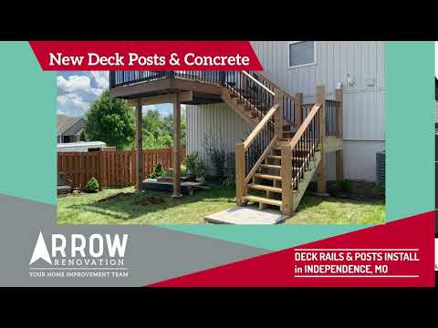 Deck Rails and Posts Installed on Independence, MO Home