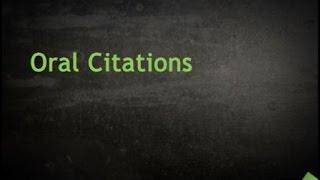 Oral Citations