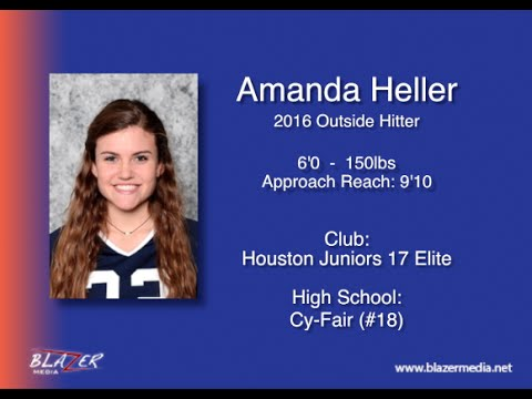 2016 Outside Hitter - Amanda Heller - Volleyball Recruiting Video