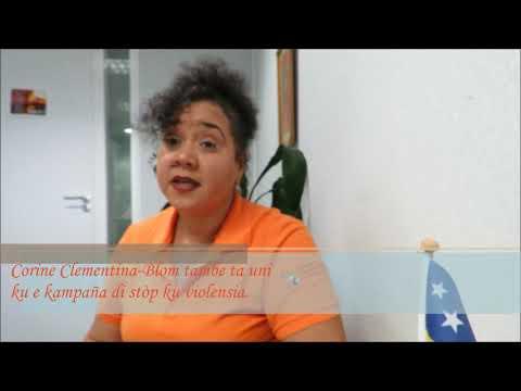 Trahadó di Ministerio di ESKD Corine Clementina-Blom tambe ta bisa Stòp na Violensia! #EndVAW #HearMeToo #OrangeUrWorld #OrangeTheWorld