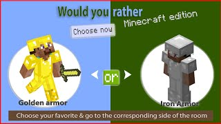 MINECRAFT workout would you rather edition, MINECRAFT exercise for kids and family MINECRAFT workout