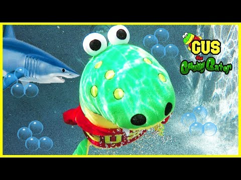 Outdoor Pool Fun with Lightning McQueen Swimming Shark Race