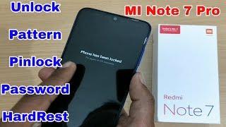Redmi Note 7 Unlock Pattern & Pinlock | Hardreset Redmi Note 7 Pro | Unlock Password Redmi Note 7