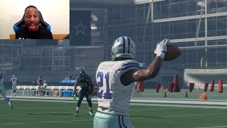 Who Can Throw a 99yd Trick Play HB Pass TD First? Ezekiel Elliott, Bell or Gurley? Madden Gameplay