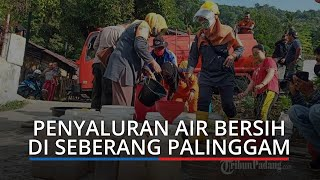 Musim Kemarau di Kota Padang, Warga Antrean Mengisi Air Bersih ke Ember dan Jeriken