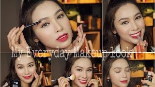 Everyday Makeup Look | Tutorial & Review ( English Sub )
