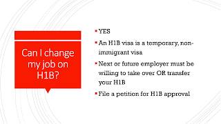 How to change your job on H1B Visa, Q&A of H1B transfer, facts of H1B visa transfer