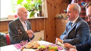 Ветеран Великой Отечественной, коренной новгородец Иван Иванович Кудрявцев отмечает 95-летие