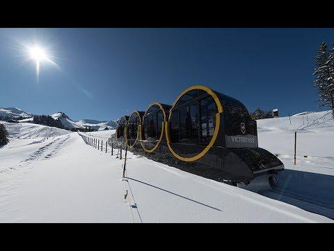 """Lanovka Doppelmayr/Garaventa 136-FUL """"Stoosbahn"""" ve švýcarském skiareálu Stoos"""
