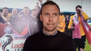 Pre-Match Interview Vs Annan Athletic (2nd leg)
