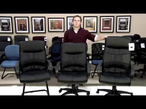 Video for Black Leatherette Mid Back Executive Chair