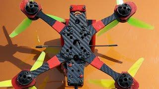 """Maiden flight kinfpv Atlas v2 5"""" frame (real world durability test) best fpv freestyle frame ever"""