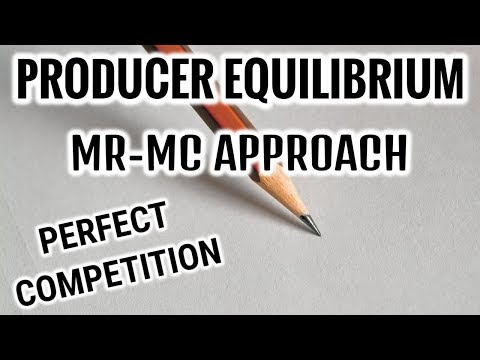 PRODUCER EQUILIBRIUM - MR MC APPROACH - PERFECT COMPETITION