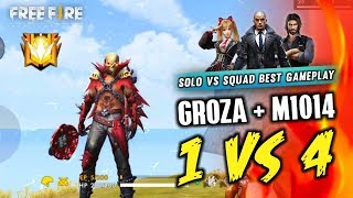 Groza   ShotGun(M1014) Solo vs Squad Best Gameplay - Garena Free Fire- Total Gaming