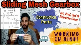 32) Sliding Mesh Gearbox ~ Construction & Working || Hindi ~ Automobile Engineering