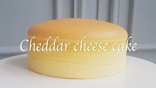 How to make cheddar(processed) cheese cake.