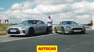 [Autocar] Which is fastest? Nissan GT-R takes on Aston Martin V12 Vantage S