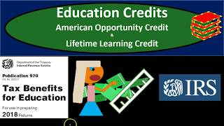 Education Credits-American Opportunity Credit & Lifetime Learning Credit 2018