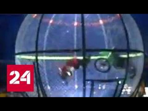 В Кемерово мотоцикл упал на артиста цирка