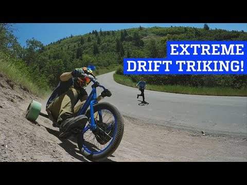Extreme Downhill Drift Triking!