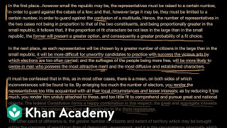 Federalist No. 10 (part 2)   US government and civics   Khan Academy