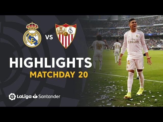Highlights Real Madrid vs Sevilla FC (2-1)