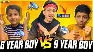 6 Year Boy Challenge His Brother😂 For 1 Vs 1 Clash Squad As Gaming Commentary - Garena Free Fire