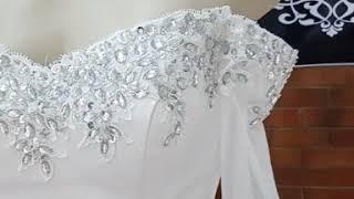 Pure White Satin Mermaid Wedding Dress