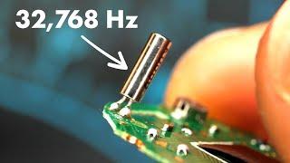 How a quartz watch works - its heart beats 32,768 times a second