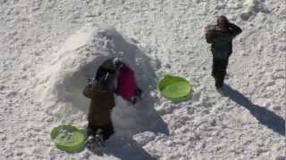 Creative kids in the snow