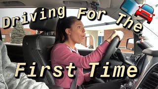 Driving for the first time in my life