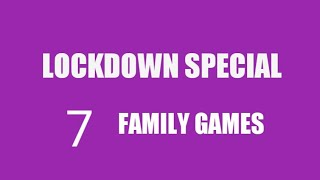 Lockdown Special 7 Family Games/ Kitty Party Games/ Indoor Games/ Family Games/ Group Games For Kids