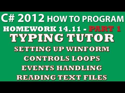 C# Programming Challenge 14 11: Typing Tutor Part 1 (C# KeyPress Event, C#  winforms, C# form controls)